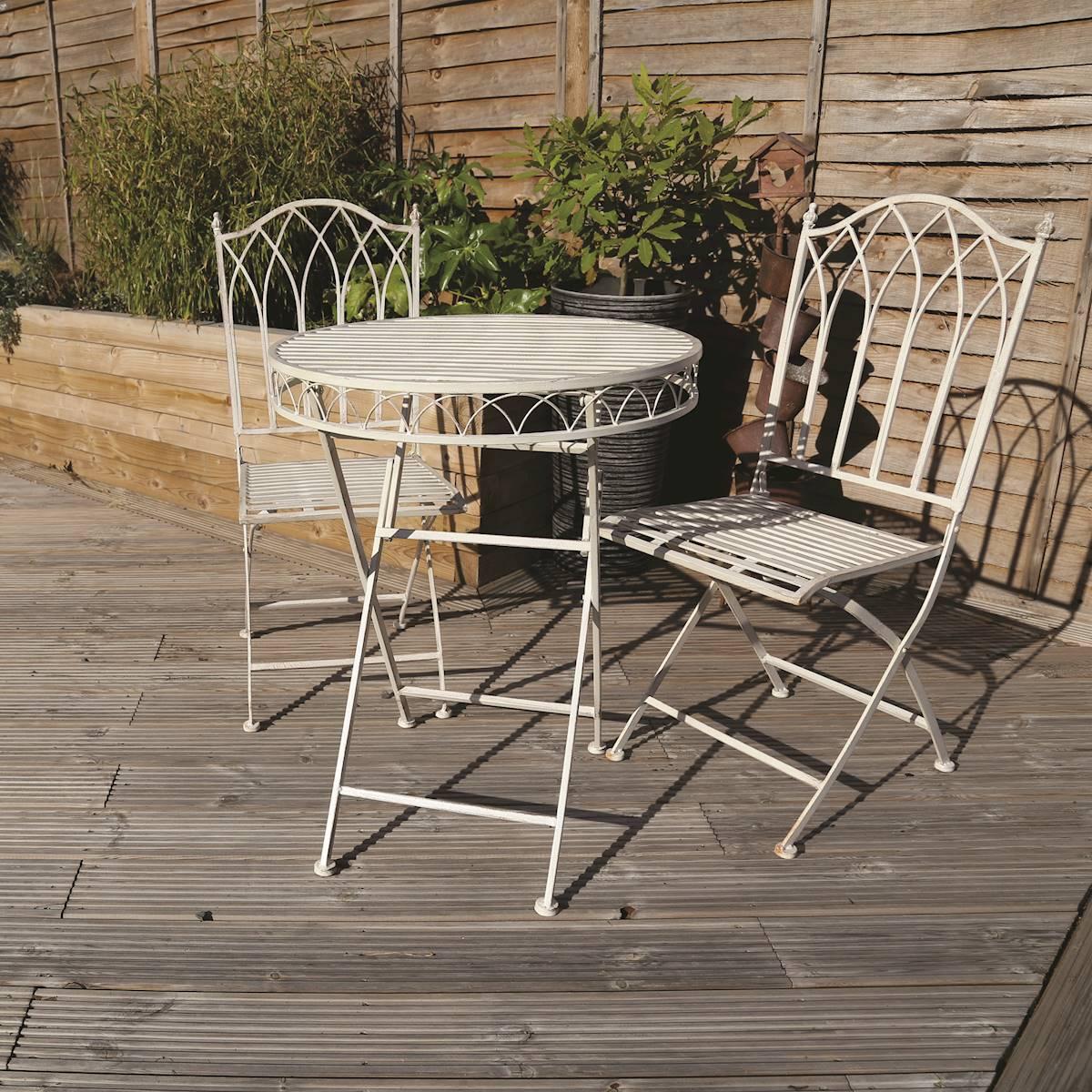 Meuble En Tonneau De Vin meuble de jardin charles bentley 3 pièce fer forgé mosaïque